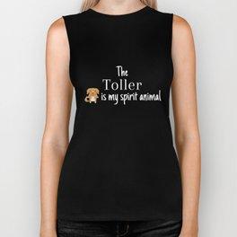 The Toller Is My Spirit Animal Biker Tank