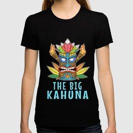 Tiki Gift Design Hawaiian Island The Big Kahuna Print T-shirt