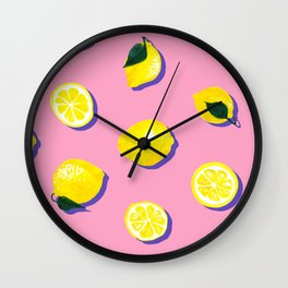 Pink Lemon ~ 80's Pattern Wall Clock