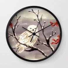 Snowy Owl Wall Clock