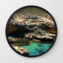 The small cliffs of rottnest island Wall Clock