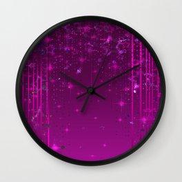 Purple rain . Wall Clock