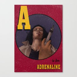 A is for Adrenaline Canvas Print