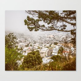 Misty San Francisco, from above Canvas Print