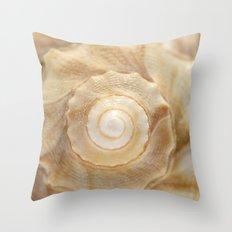 Lightning Whelk Seashell Throw Pillow
