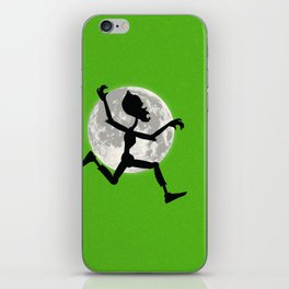 Friendly Zombie On The Go - Run iPhone Skin