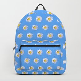 HOMEMADE BLUE DAISY PATTERN Backpack