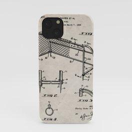 Soccer Patent - Soccer Goal Art - Antique iPhone Case