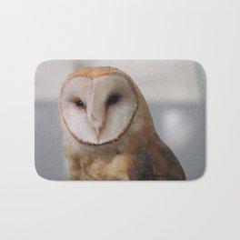 Barn Owl on Alert Bath Mat