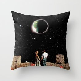 Space Love Throw Pillow