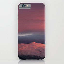 Lenticular clouds over Caballo mountain. Sierra Nevada National Park iPhone Case