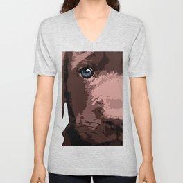 Hot chocolate labrador puppy Unisex V-Neck