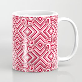 Candy Cane Swirls in Red Coffee Mug