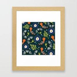 Hoopoe, bird pattern design Framed Art Print