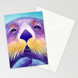 Otter Face to Face Stationery Cards