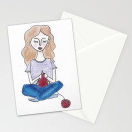 Knitting in color Stationery Cards