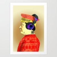 federico babina Art Prints featuring Federico da Montefeltre is cool by AnnaFox