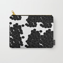 Circles | Black Minimalist Carry-All Pouch