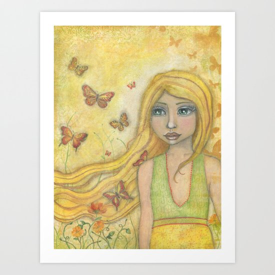 Butterfly Wishes by Kimberly Schulz Art Print