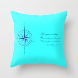 Rememberance, teal Throw Pillow