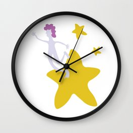Reach for the Stars - Yellow Wall Clock
