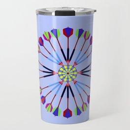 Game of Darts Design Travel Mug