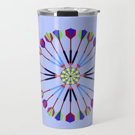 Game of Darts Design Travel Mug