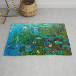 Water Lilies by Monet Rug