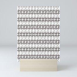 Pattern black white curves Mini Art Print