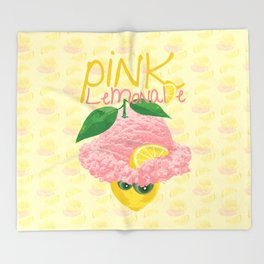 Pink Lemonade Ice Cream Throw Blanket