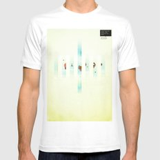 Fence: Facebook Shapes & Statuses Mens Fitted Tee MEDIUM White
