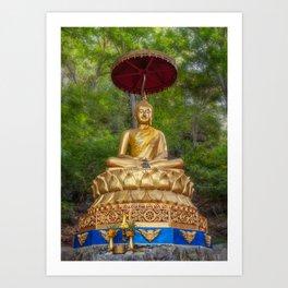 Golden Thai Buddha Art Print