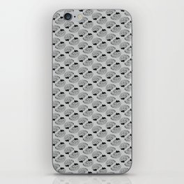 Braaains (black on grey) iPhone Skin
