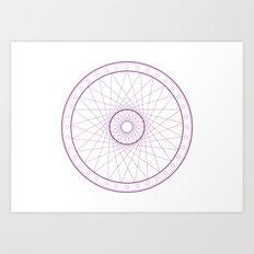 Anime Magic Circle 15 Art Print