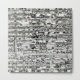 Removing Filters (P/D3 Glitch Collage Studies) Metal Print