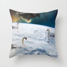 universe expectation  Throw Pillow