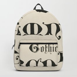Gothic initials fonts from Draughtsmans Alphabets by Hermann Esser (1845-1908) Backpack