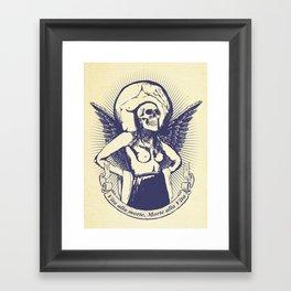 Vita alla morte. Morte alla Vita. Framed Art Print