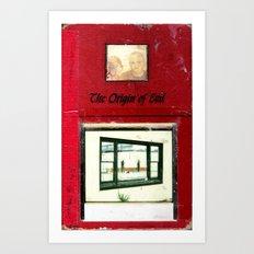 THE ORIGIN OF EVIL Art Print