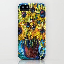 SUNFLOWERS — Palette knife iPhone Case