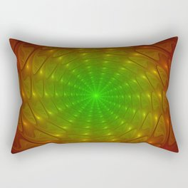 Abstract Tunnel, Fractal From Red To Green Rectangular Pillow
