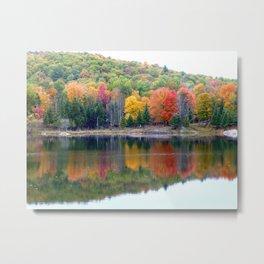 Autumn Reflection Metal Print