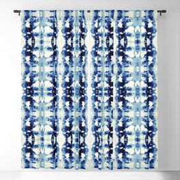 Tie Dye Blues Blackout Curtain