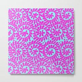 Circular Design Pink & Turquoise Metal Print