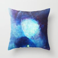 constellation Throw Pillows featuring constellation by Oana Popan