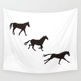 a horse runs Wall Tapestry