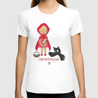 red riding hood T-shirts featuring Little Red Riding hood by MyimagesArt