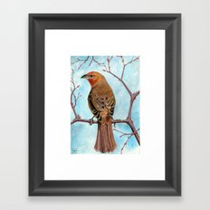 Hepatic Tanager Framed Art Print