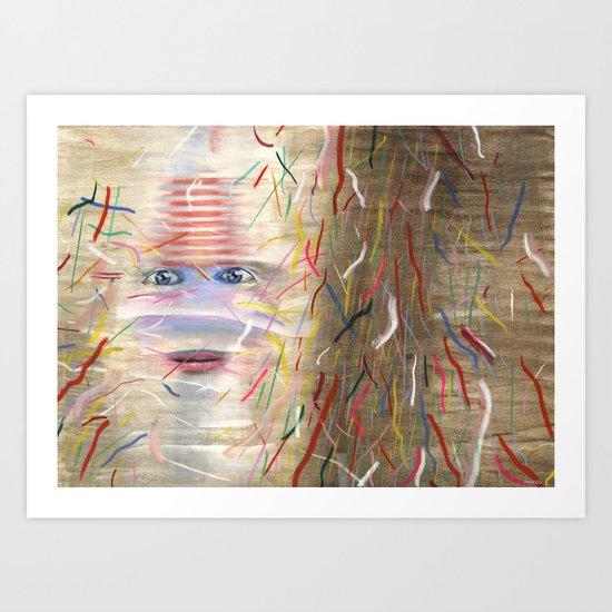 White Dreamer Art Print