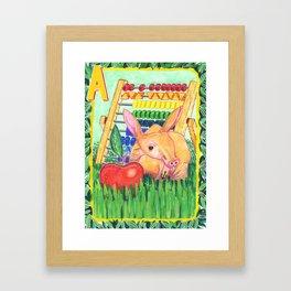A is for Aardvark Framed Art Print